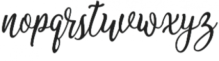 Camellias otf (400) Font LOWERCASE