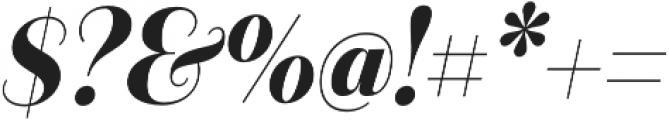 Camila Bold It otf (700) Font OTHER CHARS