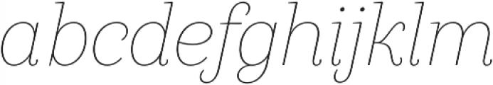 Camila Thin It otf (100) Font LOWERCASE