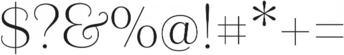 Camila otf (400) Font OTHER CHARS