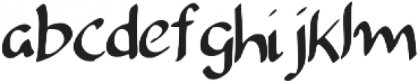 Camilia Regular otf (400) Font LOWERCASE