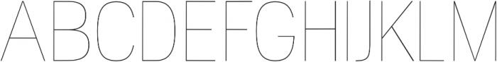 Camilie UltraLight otf (300) Font UPPERCASE