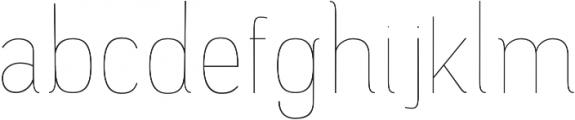 Camilie UltraLight otf (300) Font LOWERCASE