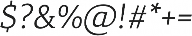 Canberra FY Book Italic otf (400) Font OTHER CHARS