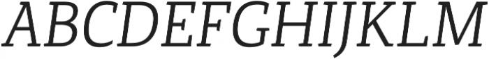 Canberra FY Book Italic otf (400) Font UPPERCASE