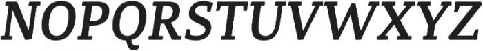 Canberra FY Medium Italic otf (500) Font UPPERCASE