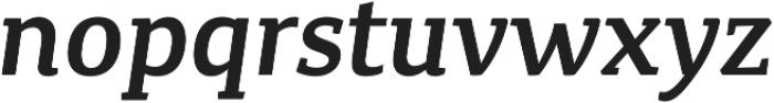 Canberra FY Medium Italic otf (500) Font LOWERCASE