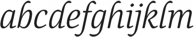 Canciller Light otf (300) Font LOWERCASE