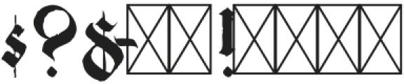 Candelabra Regular otf (400) Font OTHER CHARS