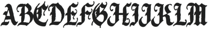 Candelabra Regular otf (400) Font UPPERCASE