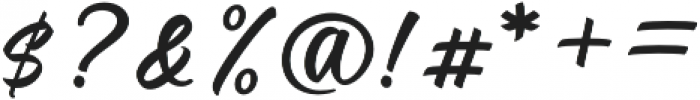 Candelion otf (400) Font OTHER CHARS