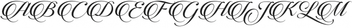 Candlescript Basic Three otf (400) Font UPPERCASE