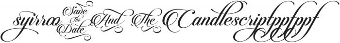 Candlescript Ligatures Mix otf (400) Font OTHER CHARS