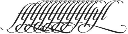 Candlescript Ligatures ff fl ft otf (400) Font OTHER CHARS