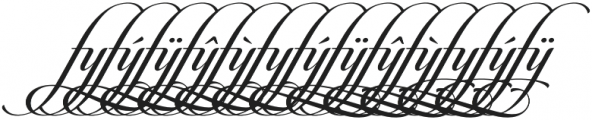 Candlescript Ligatures ff fl ft otf (400) Font UPPERCASE