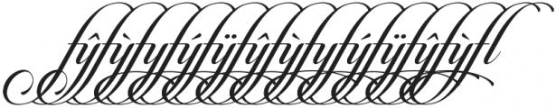 Candlescript Ligatures ff fl ft otf (400) Font LOWERCASE