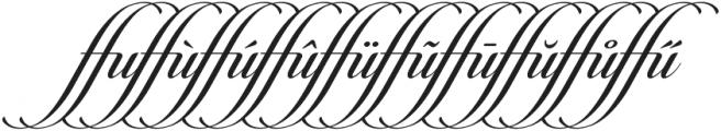 Candlescript Ligatures ffu otf (400) Font OTHER CHARS