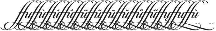 Candlescript Ligatures ffu otf (400) Font UPPERCASE