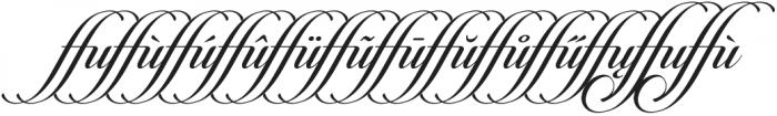 Candlescript Ligatures ffu otf (400) Font LOWERCASE