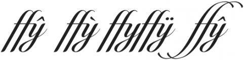Candlescript Ligatures ffy otf (400) Font OTHER CHARS
