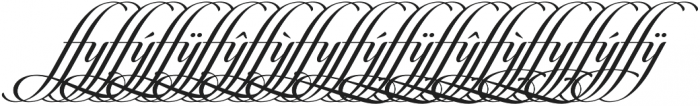 Candlescript Ligatures ffy otf (400) Font UPPERCASE