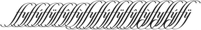 Candlescript Ligatures ffy otf (400) Font LOWERCASE