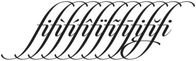 Candlescript Ligatures fi otf (400) Font OTHER CHARS