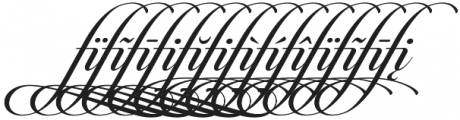 Candlescript Ligatures fi otf (400) Font UPPERCASE