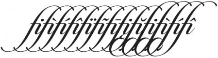 Candlescript Ligatures fi otf (400) Font LOWERCASE