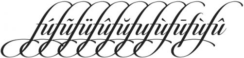 Candlescript Ligatures fu otf (400) Font OTHER CHARS