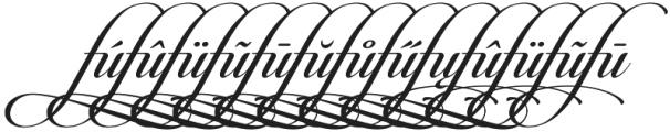 Candlescript Ligatures fu otf (400) Font UPPERCASE