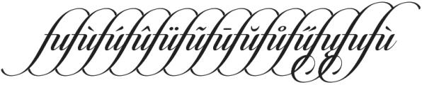 Candlescript Ligatures fu otf (400) Font LOWERCASE