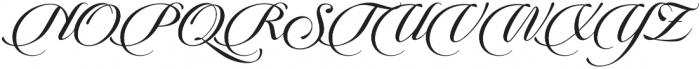 Candlescript Pro Regular otf (400) Font UPPERCASE