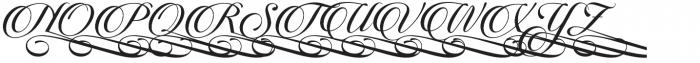 Candlescript Swashes Five Alt otf (400) Font UPPERCASE