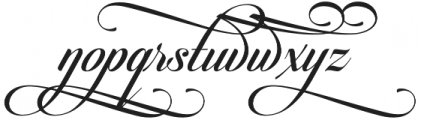 Candlescript Swashes Five Alt otf (400) Font LOWERCASE