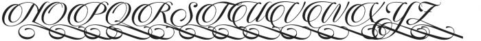 Candlescript Swashes Four alt otf (400) Font UPPERCASE
