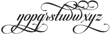 Candlescript Swashes Four alt otf (400) Font LOWERCASE
