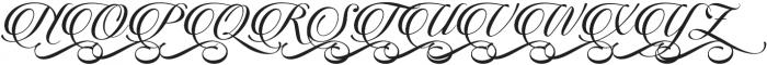 Candlescript Swashes One Alt otf (400) Font UPPERCASE
