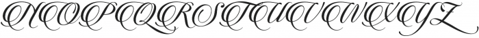 Candlescript Three Alternates otf (400) Font UPPERCASE