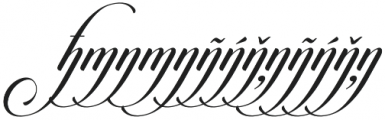 Candlescript h m n additional otf (400) Font LOWERCASE