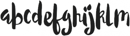 Candy Rose ttf (400) Font LOWERCASE