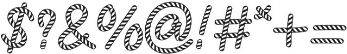 CandySticks Hollow Regular ttf (400) Font OTHER CHARS