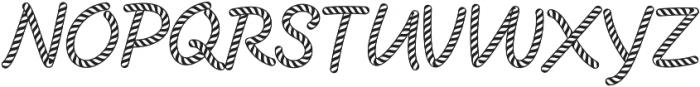 CandySticks Hollow Regular ttf (400) Font UPPERCASE