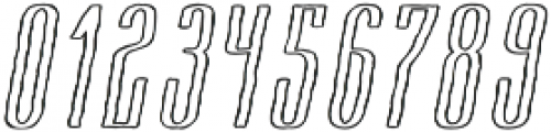 Cansum Hand 46 Line Italic otf (400) Font OTHER CHARS