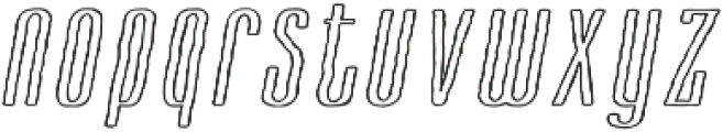 Cansum Hand 46 Line Italic otf (400) Font LOWERCASE
