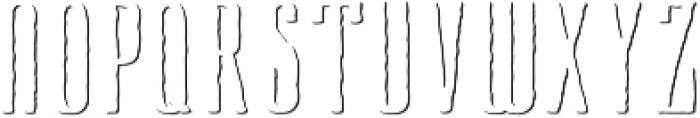 Cansum Hand 55 Shadow Regular otf (400) Font UPPERCASE