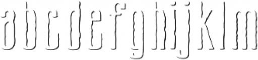 Cansum Hand 55 Shadow Regular otf (400) Font LOWERCASE