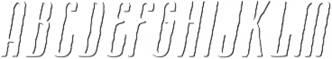 Cansum Hand 56 Shadow Italic otf (400) Font UPPERCASE