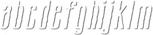 Cansum Hand 56 Shadow Italic otf (400) Font LOWERCASE
