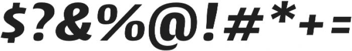 Cantiga ExtraBold Italic otf (700) Font OTHER CHARS